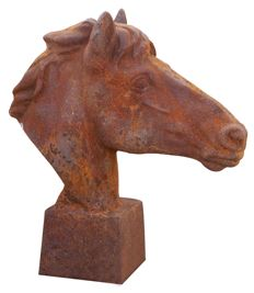 Cast iron horse head - W22 x D58 x H62 - rust finish