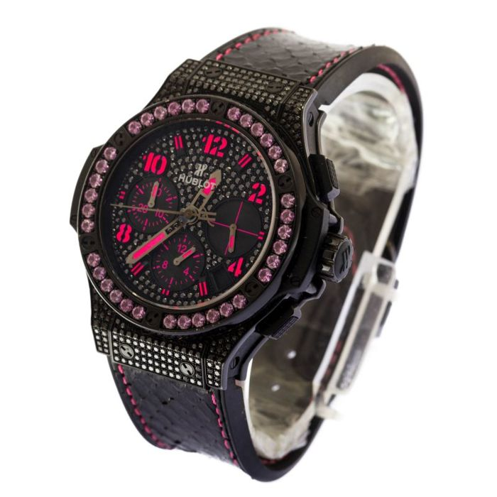 Hublot - Big Bang Fluo Pink Black Diamond Dial  - 341sv9090pr0933 - Senhora - 2011-presente