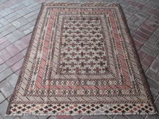 3450 # STUNNING SUPER QUALITY HAND MADE NEEDLE WORK SUMAK WOOL KILIM 132 x 180 CM