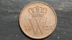 The Netherlands – 1 cent 1827B, Willem I – copper