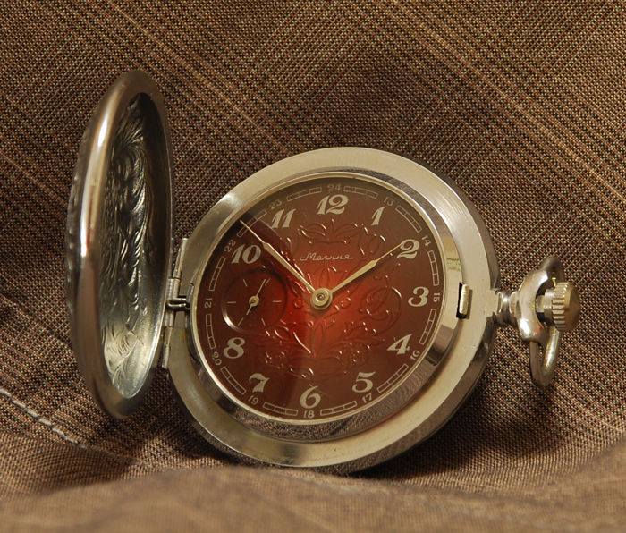 Molnija - Phoenix - men's pocket watch - soviet watch - 1980th