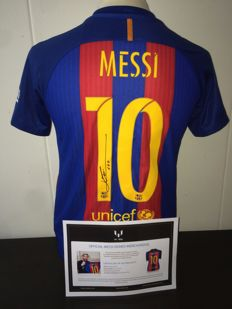 Leo Messi FC Barcelona 16/17 stunning signed shirt + COA ICONS.