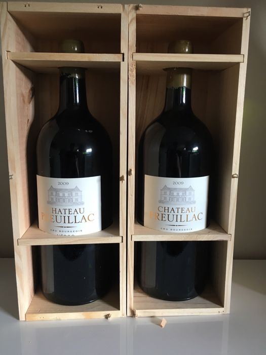 2009 Chateau Preuillac Medoc Cru Bourgois - 2 Jeroboam bottles (3ltr) in wooden cases