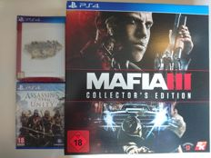 3x sealed PS4 games, incl Maffia III Collector's Edition and Final Fantasy Type 0 HD limited edition