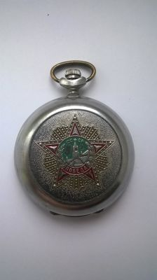 Molnija Pobeda - USSR Russian pocket watch 1980's
