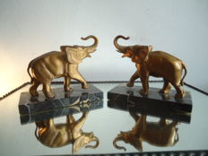 Art Deco bookends 'elephants'