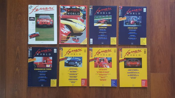 Lot of 26 magazines from;  Ferrari World, Maranello News, Scuderia, Ferrari Owners Club
