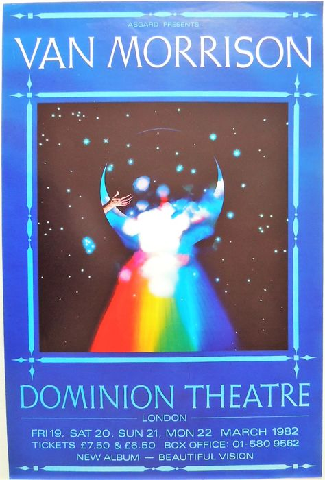 Rare British London Van Morrison Dance Concert Poster 1982