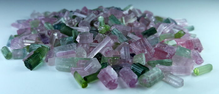 Mixed Color Tourmaline Crystals Lot - 30 gm