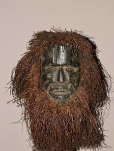 Beautiful old ITURI mask - MBUTI - Congo