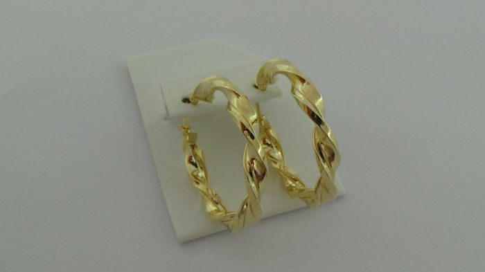14 kt Gold Earrings – Diameter: 29 mm