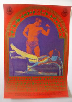 "The Youngbloods San Francisco Avalon Ballroom Family Dog  ""The Strong Man"" by Victor Moscoso 1967"