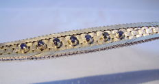 Bracelet with blue sapphires totalling 0.60 ct