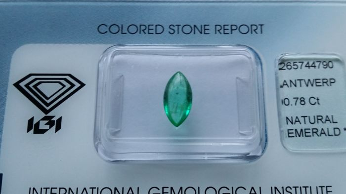 Emerald - 0.78 ct (No Reserve Price)