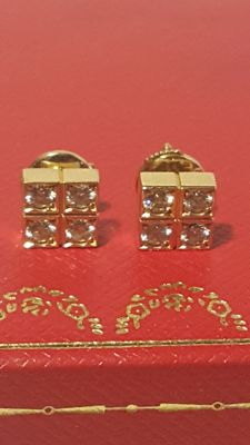 "Cartier - ""Paillettes"" 8P Diamond earrings - Weight approx. 3.1 g"