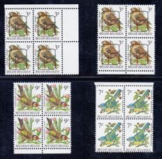 Belgium 1986/2010 – Broad collection of Buzin birds with variations.