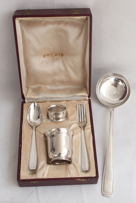 Lot of Silver Plated Items By Ercuis, France, Early 20th Century