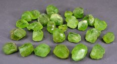 Lot of Terminated Peridot Crystals - 105gm - (27)