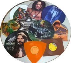 Rock picture disks and colour vinyls  16 records total