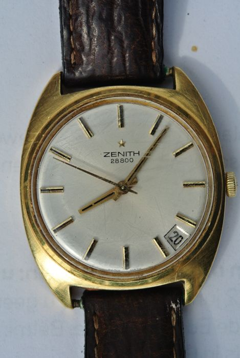ZENITH 28800- gold men's wristwatch - 70s