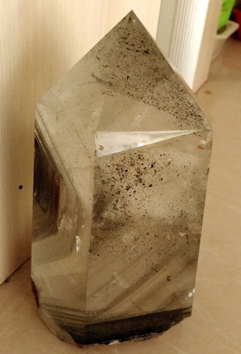 Beautiful Chlorite Phantom quartz crystal - 240 * 120 * 100 mm - 4.3 kg