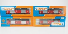 Roco H0 - 46273/4387A - four closed goods wagons PTT Post of the NS