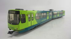 Leopold Halling H0 - Express tram Utrecht from Connexxion, with an extra dummy chassis without drivetrain