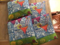 Mariska Meijers - 4 x outdoor cushions with canal houses design