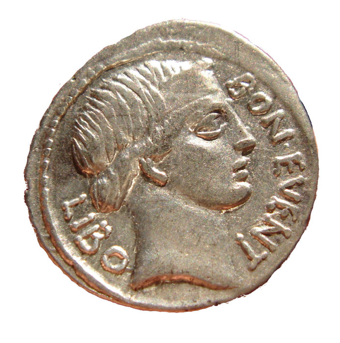 Roman Republic - L. Scribonius Libo silver denarius (3,69 g, 20 mm). Rome, 62 B.C. Puteal Scribonianum (Scribonian well-head), decorated with garland and lyres. Top qualtiy!