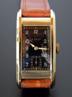 LACO - Very Rare Art Deco german men's wristwatch from 1930s.