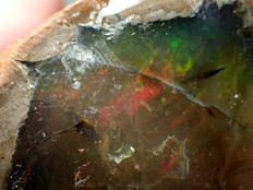 Large Rainbow Natural Ethiopian Opal - 55 x 52 x 31 mm - 99 g