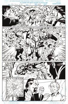 Original Art Page By Rod Whigham - Marvel Comics - Men in Black : Alien in New York #4 - Page 22 - (1997)