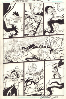 Original Art Page By Christopher Jones & Terry Beatty - DC Comics - The Batman Strikes! #33 - Page 2 - Signed - (2007)