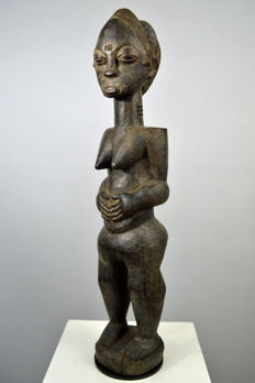 Rare Doh Female Fetish Figure - BAULE - Ivory Coast