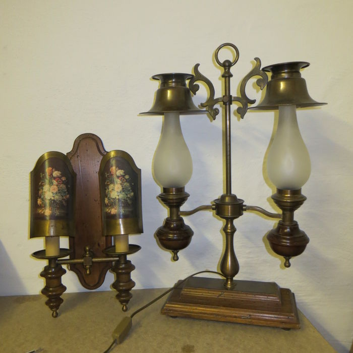 Two lamps in country-house style from the 50s.
