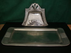 Art Deco Silver plated Items with Monogram and dated