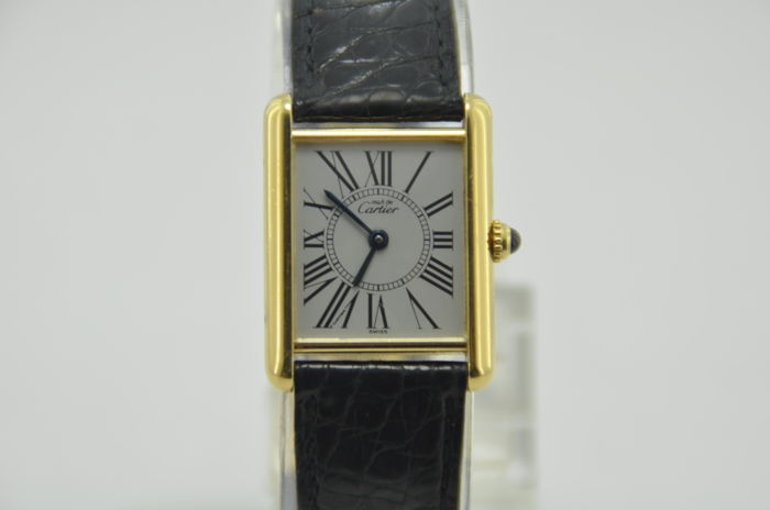 Must De Cartier Tank Vermeil Ref. 590005 - Wristwatch