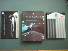 Drie Boeken Rolls-Royce ; Bird , Hallows , The Rolls-Royce Motor Car , 1975 - Rolls-Royce 1925-1965 , 1972 -  The complete works , The best 599 Rolls-Royce stories , 1984