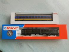 Märklin/Roco H0 - ICR vehicle 1st class of NS with interior lighting and 'Blokkendoos' control car of the NS