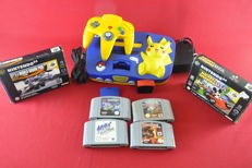 Nintendo 64 Pokemon Edition with Expansion pak and games