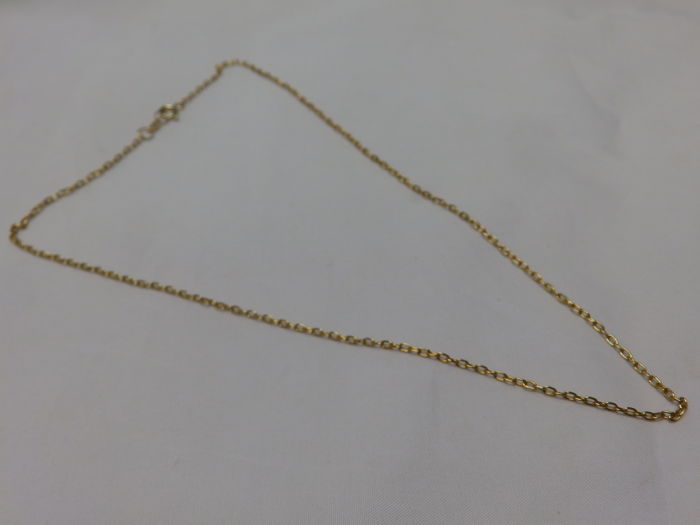 Thin 18 kt Gold Chain with simple links – 45.5 cm