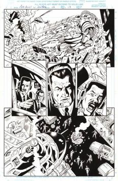Original Art Page By Rod Whigham - Marvel Comics - Men in Black : Alien In New York #2 - Page 13 - (1997)