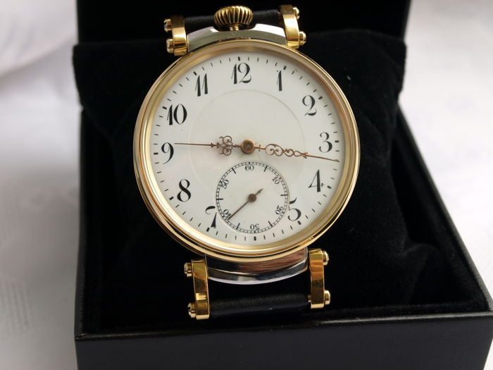18 Revue Thommen men's marriage wristwatch 1905-1910