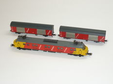 Märklin/Roco H0 - 3389 - Motorpost mP3000 series of the NS, with two postal wagons