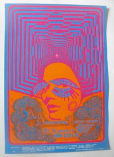 "Janis Joplin Big Brother & the Holding Co San Francisco Avalon Ballroom Family Dog 1967 ""Optical Illusion"""