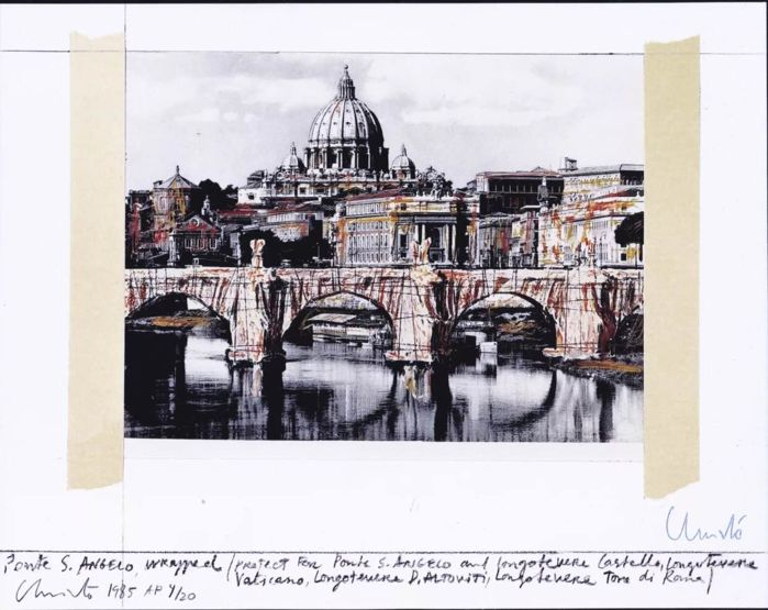 Christo - Ponte Sant Angelo, Project for Rome