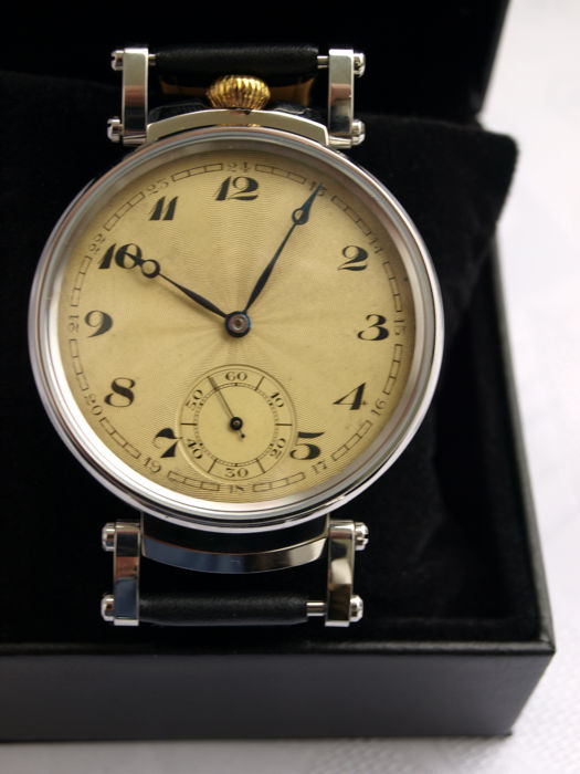46Japy Freres men's marriage wristwatch 1905-1910