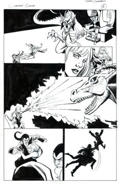 Original Art Page By Rob Jones And Dick Giordano - Heroic Publishing - The Adventures of Chrissie Claus #4 - Page 12 - (2011)