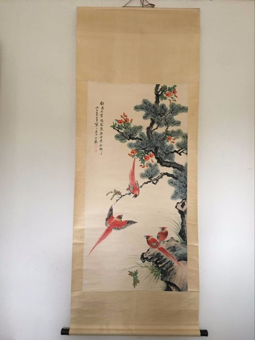 Flower and Bird Painting - China - late 20th Century