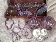 Collection of 180 pieces of jewellery with many gemstones